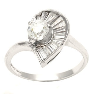 Pre-owned 14k White Gold 4/5ct TDW Diamond Ballerina Estate Ring (G-H, VS1-VS2)