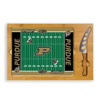 Picnic Time Purdue University Boilermakers Icon Cheese Tray - Brown