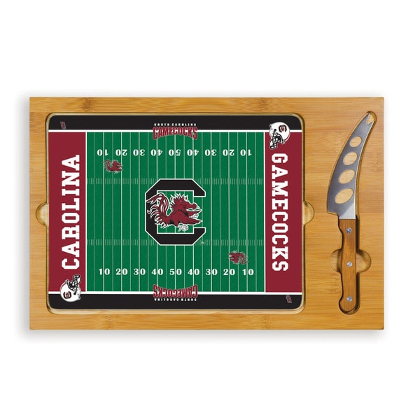 Picnic Time University of South Carolina Gamecocks Icon Cheese Tray - Brown