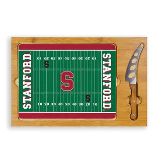 Picnic Time Stanford University Cardinal Icon Cheese Tray