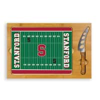 Picnic Time Stanford University Cardinal Icon Cheese Tray - Brown