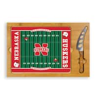 Picnic Time University of Nebraska Cornhuskers Icon Cheese Tray - Brown