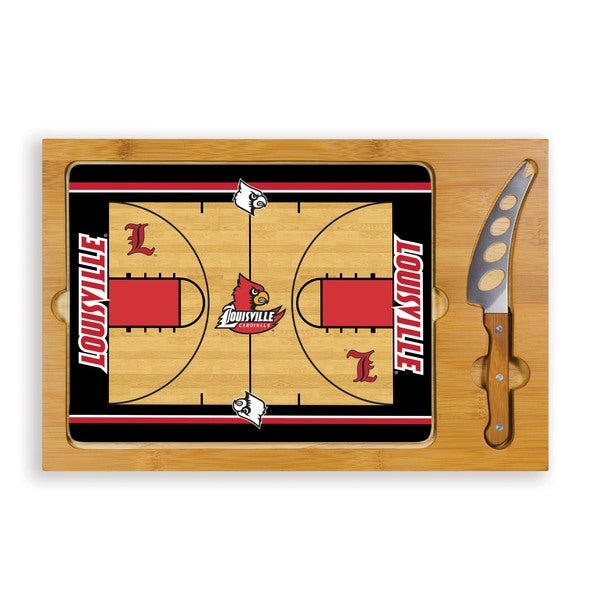Picnic Time University of Louisville Cardinals Icon Cheese Tray - Brown