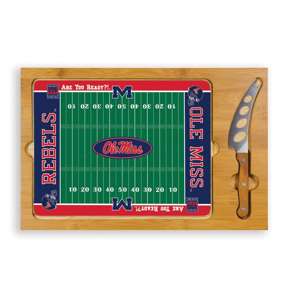 Picnic Time University of Mississippi Rebels Icon Cheese Tray - Brown