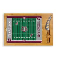 Picnic Time Texas A&M University Aggies Icon Cheese Tray - Brown