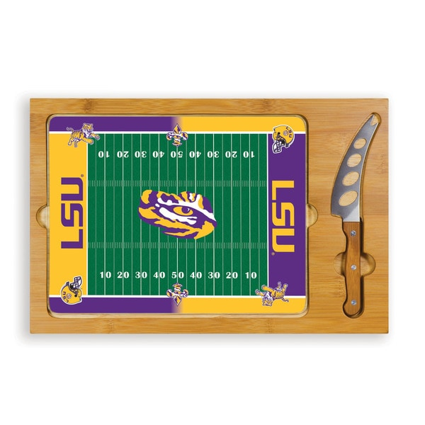 Picnic Time Louisiana State University Tigers Icon Cheese Tray - Brown