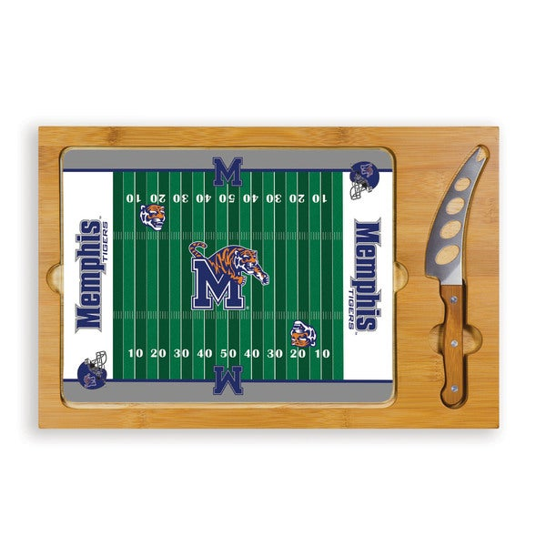 Picnic Time University of Memphis Tigers Icon Cheese Tray - Brown