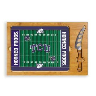 Picnic Time Texas Christian University Horned Frog Icon Cheese Tray