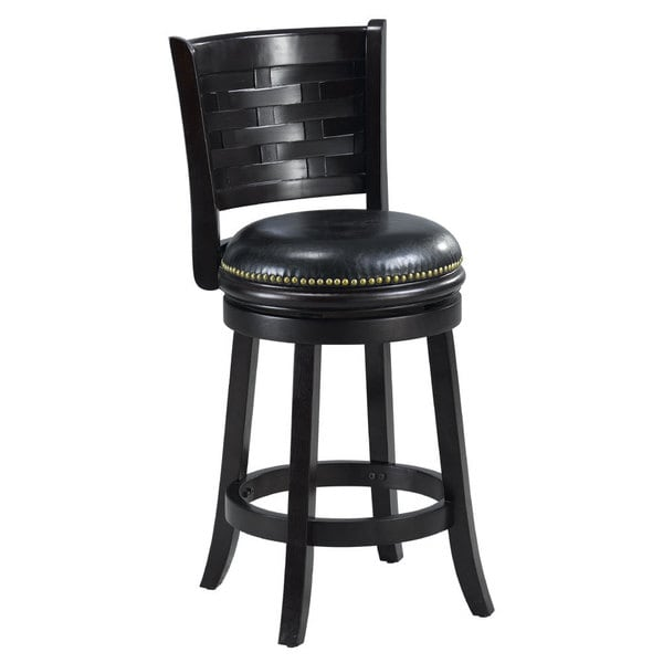 black leather bar stools with back black bi cast leather woven back swivel counter 9303