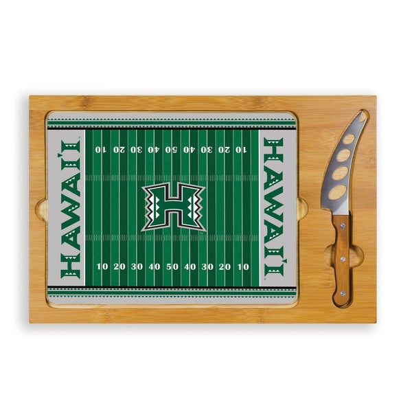 Picnic Time University of Hawaii Warriors Icon Cheese Tray - Brown