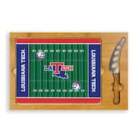 Picnic Time Louisiana University Tech Bulldogs Icon Cheese Tray - Brown