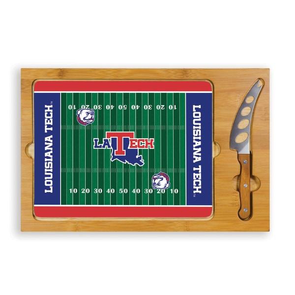 Picnic Time Louisiana University Tech Bulldogs Icon Cheese Tray