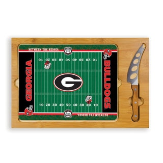 Picnic Time University of Georgia Bulldogs Icon Cheese Tray
