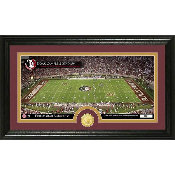 Florida State University Stadium Bronze Coin Panoramic Photo Mint