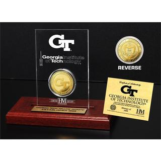 Georgia Tech Gold Coin Etched Acrylic