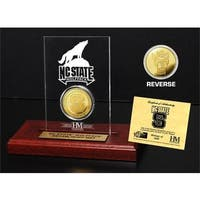 North Carolina State University Gold Coin Etched Acrylic