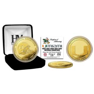University of Miami 5-Time National Champions Gold Coin