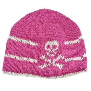 Hand-knit Happy Skull Woolen Winter Beanie (Nepal)