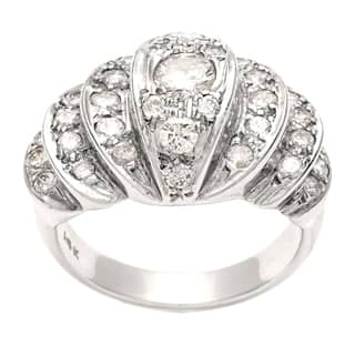 Pre-owned 14k White Gold 1 1/5ct TDW Diamond Estate Cocktail Ring (H-I, SI1-SI2)|https://ak1.ostkcdn.com/images/products/8394495/P15696633.jpg?impolicy=medium