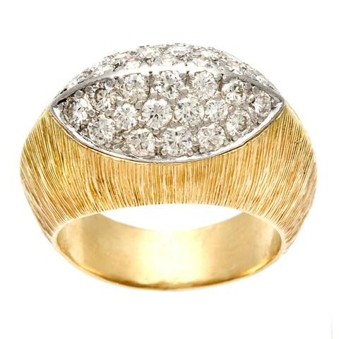 Pre-owned Ruser 18k Yellow Gold 4/5ct TDW Diamond Estate Ring (I-J, VS1-VS2)