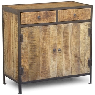 Handmade Industrial Wood and Iron Sideboard Cabinet (India)