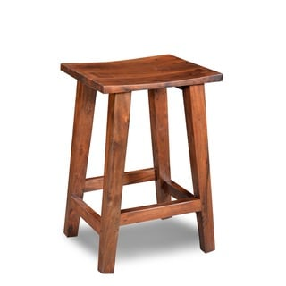 Handmade Acacia Tall Bar Stool (India)