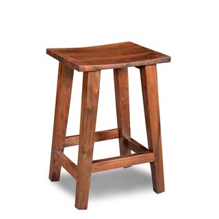 Handcrafted Acacia Medium Counter Stool (India)