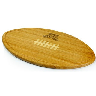 Picnic Time Kickoff University of Minnesota Golden Gophers Engraved Natural Wood X- Large Cutting Bo