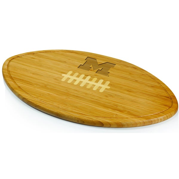 Picnic Time Kickoff University of Michigan Wolverines Engraved Natural Wood X- Large Cutting Board - Brown