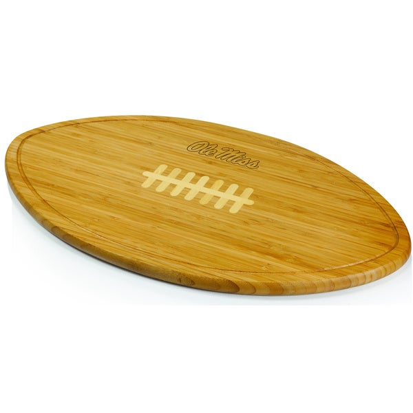 Picnic Time Ole Miss Kickoff Engraved Natural Wood Cutting Boards - Brown