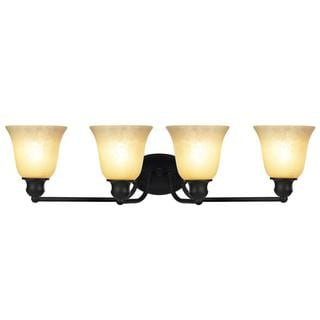 Chloe Transitional 4-light Rubbed Bronze Bath/ Vanity Light