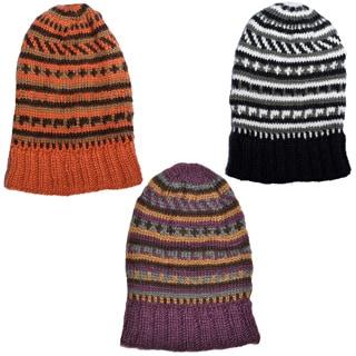 Unisex Hand-knit Woolen Slouchy Winter Beanie (Nepal)