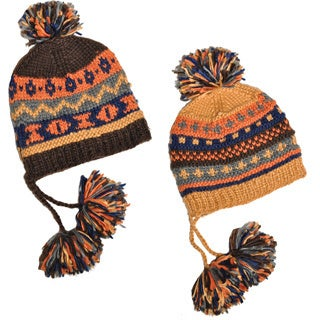 'My Very Own Pompom' Hand-knit Woolen Winter Hat (Nepal)