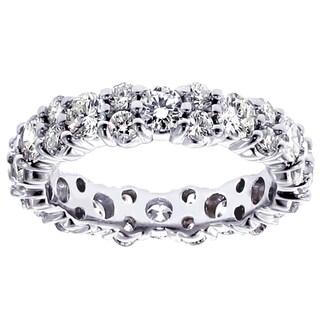 14k White Gold 2.3 - 2 1/2ct TDW Diamond Eternity Ring