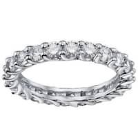 White Gold 1.8-2ct TDW Diamond Braided Eternity Ring