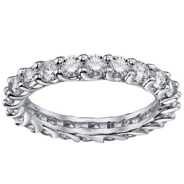 White Gold 1.8-2ct TDW Diamond Braided Eternity Ring (G-H, SI1-SI2)