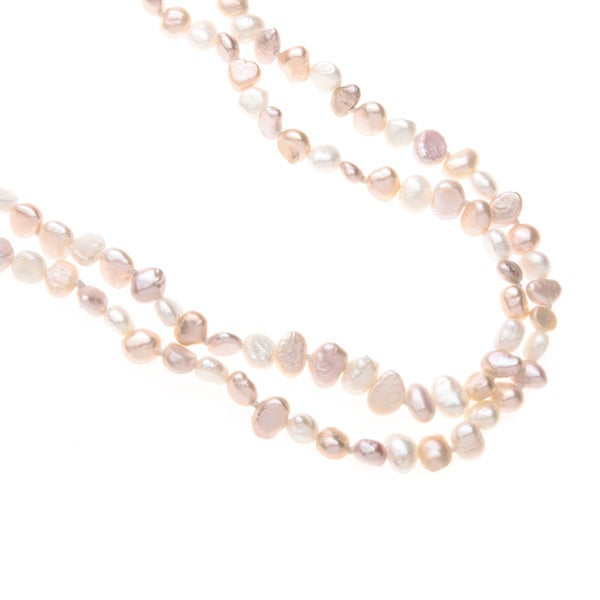 Jewelry Necklaces Pearls Sterling Silver 5-6mm Pink FW Cultured Pearl Necklace