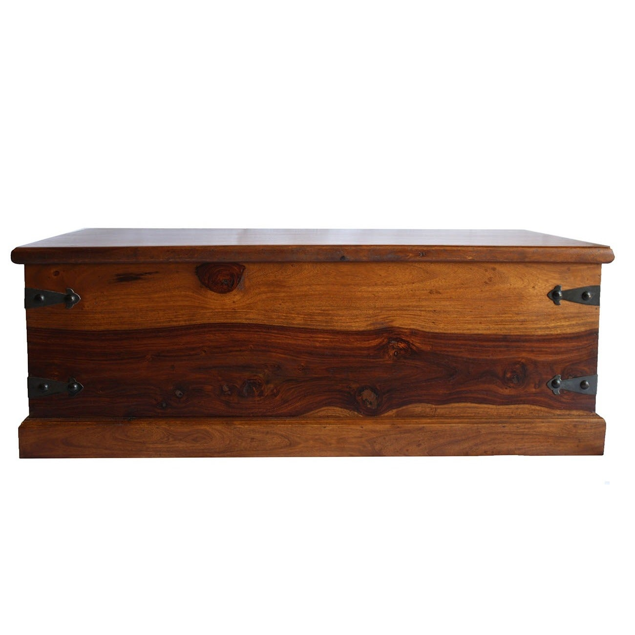 Timbergirl Solid Seesham Wood Trunk Coffee Table (India)
