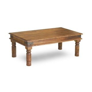 "Handmade Thakat Rustic Coffee Table - 17"" x 44"" x 24"" (India)"