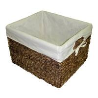 Handcrafted Large Woven Maize Rectangular Storage Baskets (Set of 2)