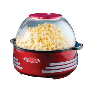 Nostalgia SP300RETRORED Retro Series 6 qt. Stirring Popcorn Popper
