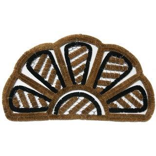 """Rubber-Cal 'Petal' Half-Round Doormat (20""""x32"""")"""
