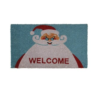 "Rubber-Cal 'Santa Claus is Back' Coir Doormat (18""x30"")"