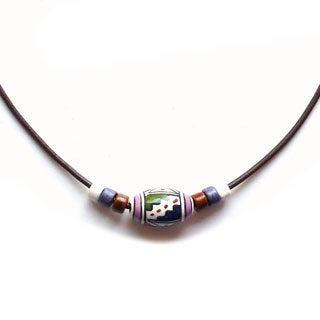Every Morning Design Geometric Multi Peruvian Bead Necklace