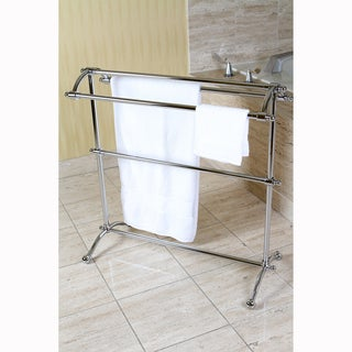 Chrome Pedestal Towel Rack - silver