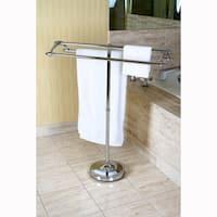 Chrome Pedestal Round Plate Towel Rack
