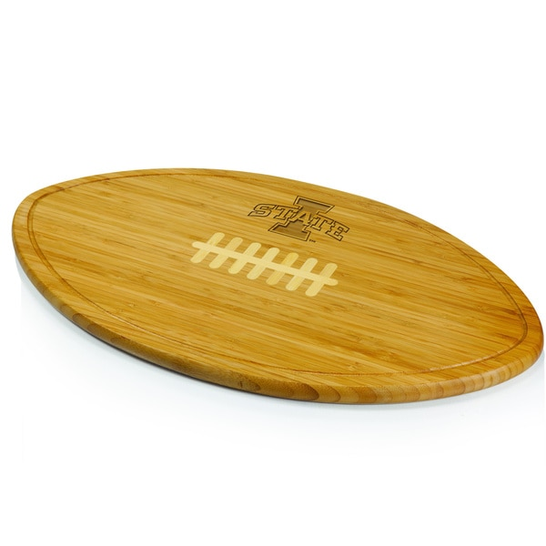 Picnic Time Kickoff Iowa State Cyclones Engraved Cutting Board - Brown