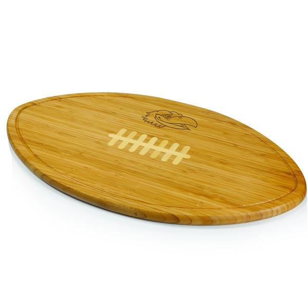 Picnic Time Kickoff University of Kansas Jayhawks Engraved Cutting Board - Brown