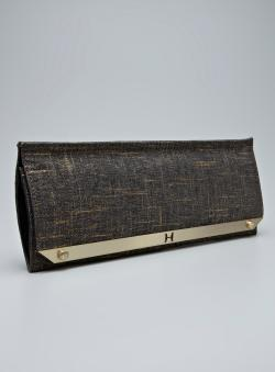 1fb4c0c30c Shop Halston Heritage Gold Fabric Slim Clutch - Free Shipping Today ...
