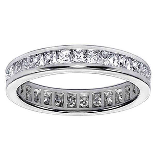 14k/ 18k Gold 1.6-1.8ct TDW Diamond Eternity Wedding Band (G-H, SI1-SI2)